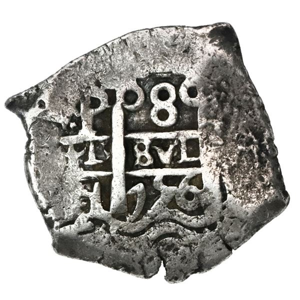Potosi, Bolivia, cob 8 reales, 1756q.