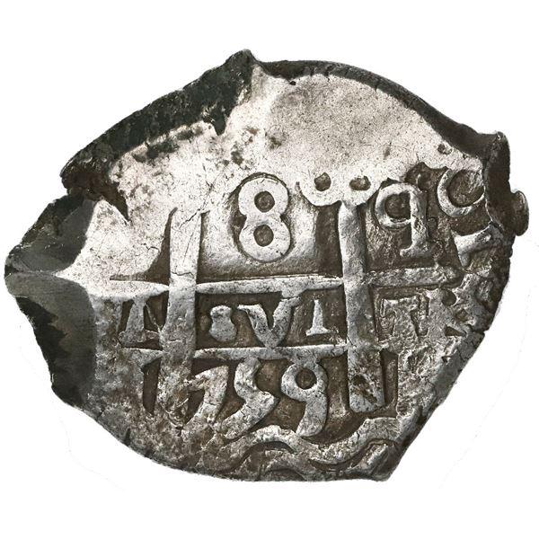 Potosi, Bolivia, cob 8 reales, 1759q.