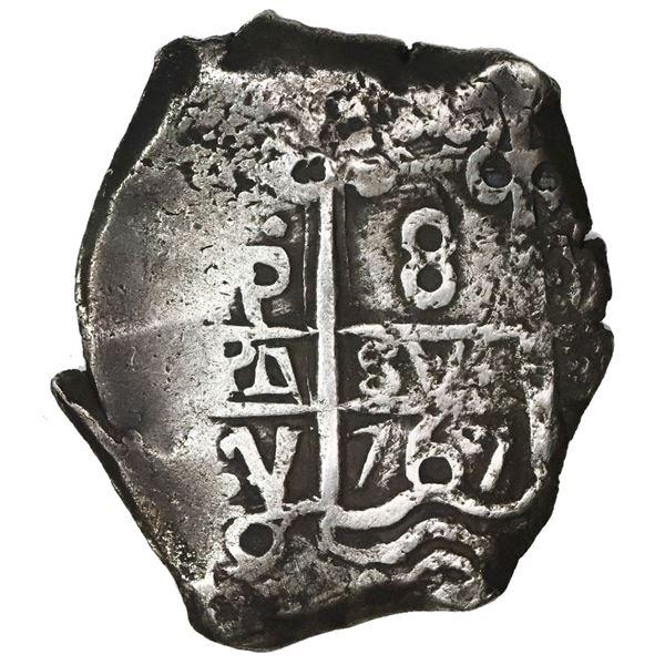 Potosi, Bolivia, cob 8 reales, 1767V-Y.