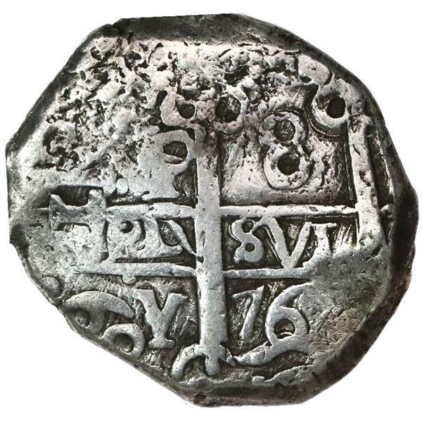 Potosi, Bolivia, cob 8 reales, 1769V-Y-V.