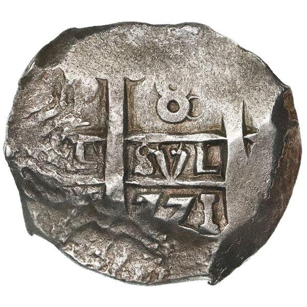 Potosi, Bolivia, cob 8 reales, 1771V-Y.