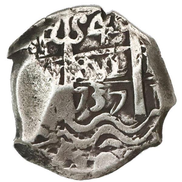 Potosi, Bolivia, cob 4 reales, 1737M.