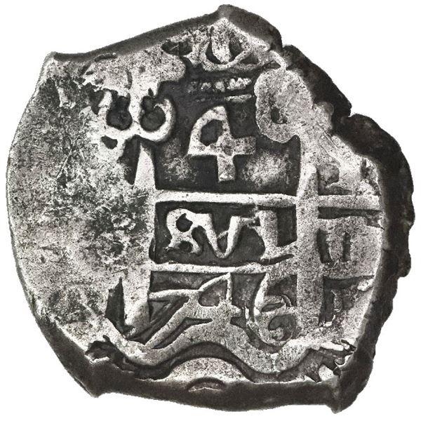 Potosi, Bolivia, cob 4 reales, 1746q.