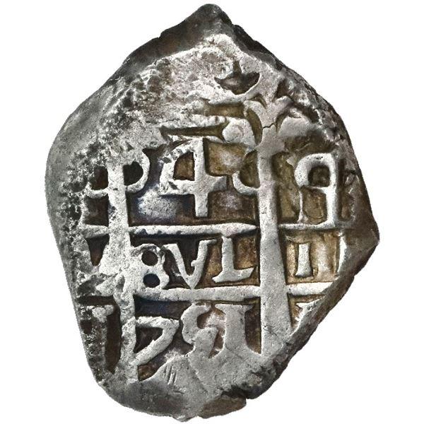 Potosi, Bolivia, cob 4 reales, 1751q/E.
