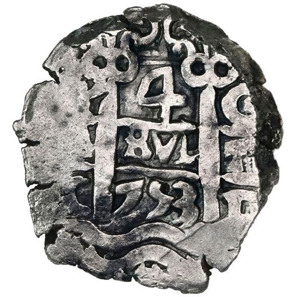 Potosi, Bolivia, cob 4 reales, 1753C.
