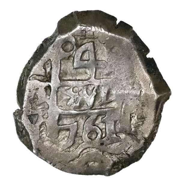 Potosi, Bolivia, cob 4 reales, 1761V-Y.