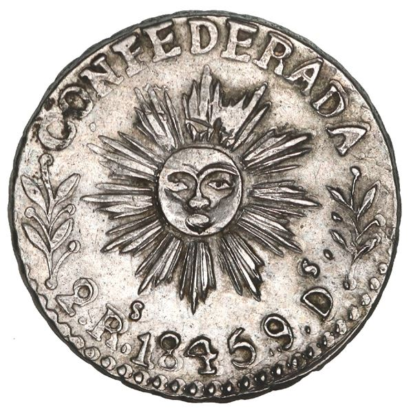 Cordoba, Argentina, 2 reales, 1845, NGC AU 55, finest and only example in NGC census, ex-O'Brien.