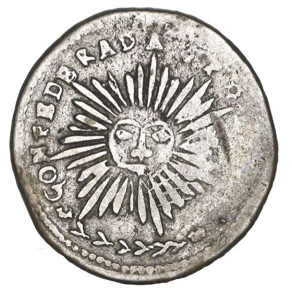 Cordoba, Argentina, 1 real, 1840 *P*(N*P*), castle type, rare, NGC VG 10, ex-O'Brien.