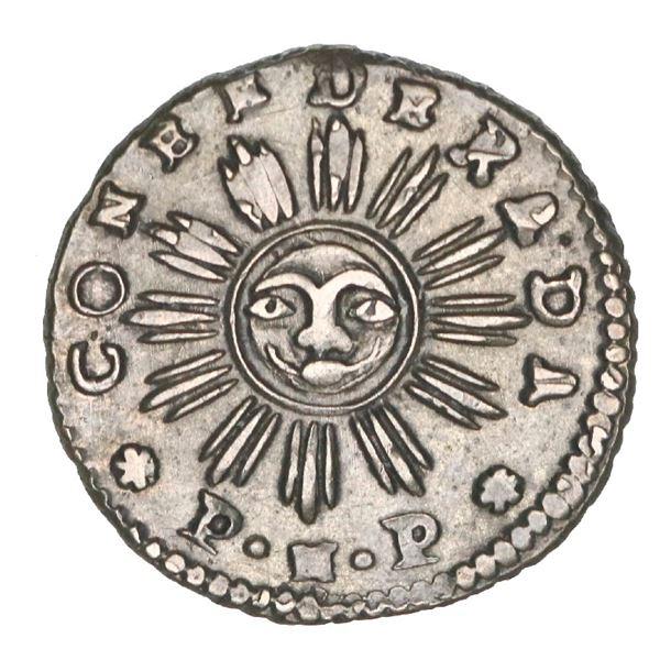 Cordoba, Argentina, 1 real, 1841 *P.N.P*, arms type, NGC XF 45, ex-O'Brien.
