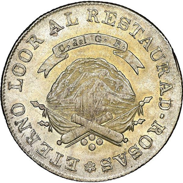 La Rioja, Argentina, 4 reales, 1846V, NGC MS 61.
