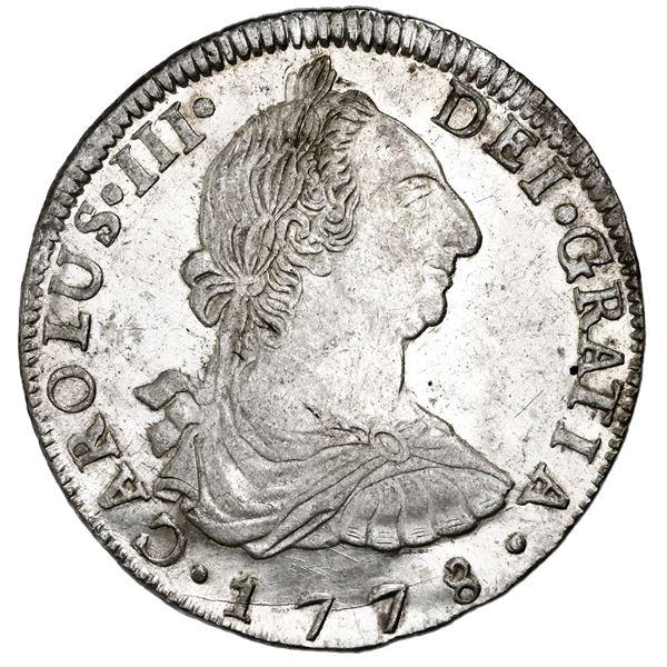 Potosi, Bolivia, bust 8 reales, Charles III, 1778PR, NGC MS 61.