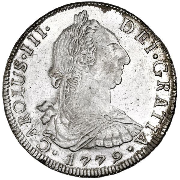 Potosi, Bolivia, bust 8 reales, Charles III, 1779PR, NGC MS 62.