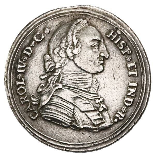 Popayan, Colombia, 4 reales proclamation medal, 1790, Tenorio, corded edge, NGC XF details / plugged