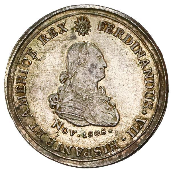 Zitara (Quibdo), Colombia, 4 reales proclamation medal, Ferdinand VII (bust of Charles IV), 1808, Jo