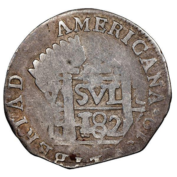 """Bogota, Colombia, 2 reales, 1819JF, Nueva Granada (""""Libertad Americana""""), denomination in legend, st"""
