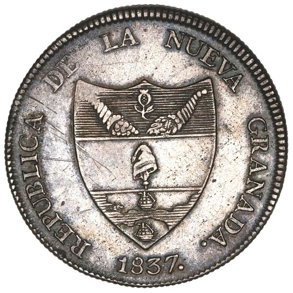 Bogota, Colombia, 8 reales, 1837RS.