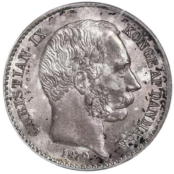 Danish West Indies, 10 cents, Christian IX, 1879, PCGS MS64.