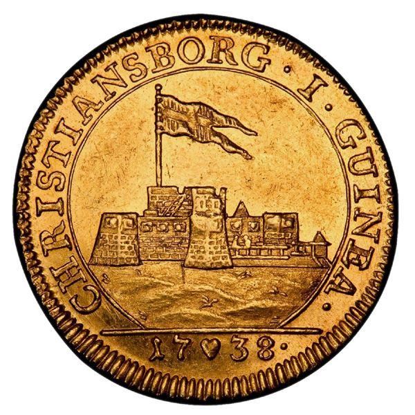 Denmark, gold ducat, Christian VI, 1738, PCGS AU58.