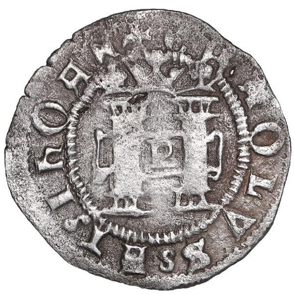 Santo Domingo, Dominican Republic, 1/2 real, Charles-Joanna, no assayer (F), very rare.