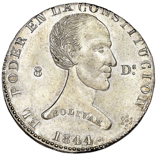 Quito, Ecuador, 4 reales, 1844MV-A, NGC MS 65, finest known in NGC census, ex-Lissner.