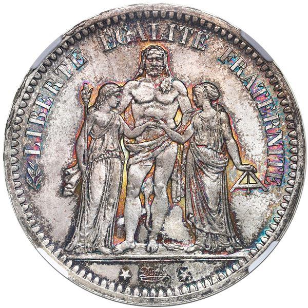 France (Paris mint), 5 francs, 1873-A, NGC MS 66.