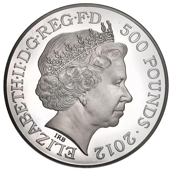 Great Britain (London, England), 500 pounds (one kilo of .999 fine silver), Elizabeth II, 2012, Lond