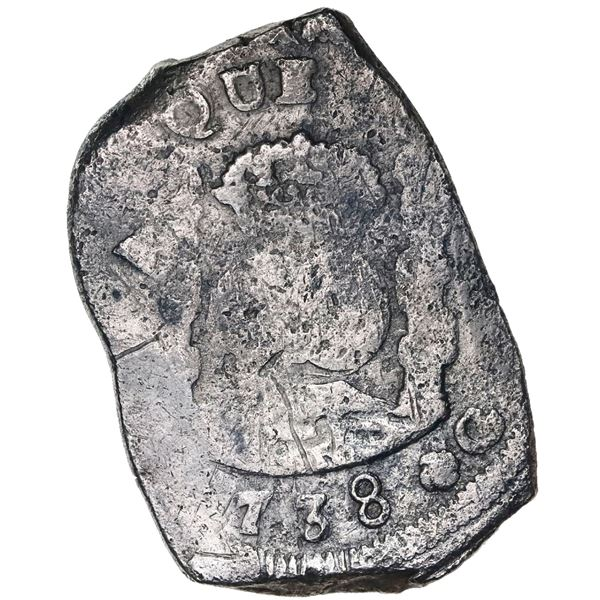 Guatemala, cob 8 reales, (1)738J.
