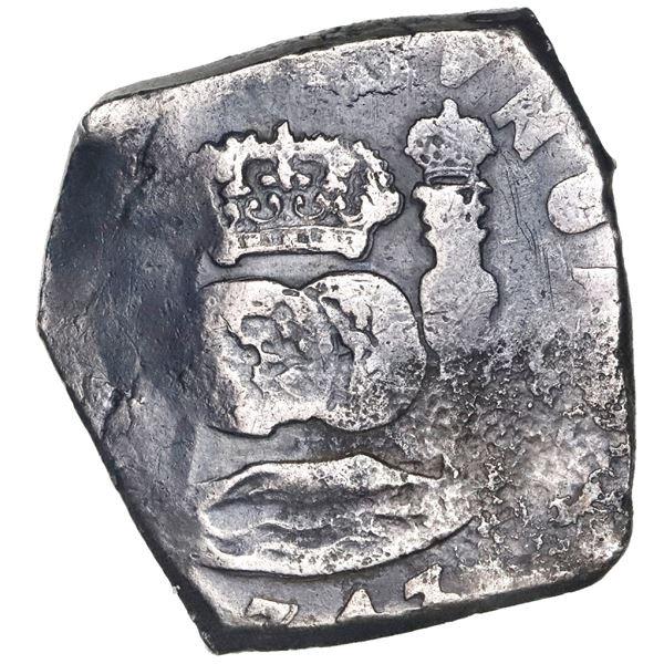 Guatemala, cob 8 reales, (1)743(J), rare.