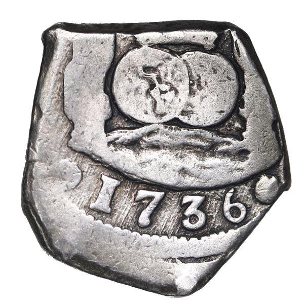 Guatemala, cob 4 reales, 1736(J), Pellicer I Bru Plate, Calico Plate, Cayon Plate.