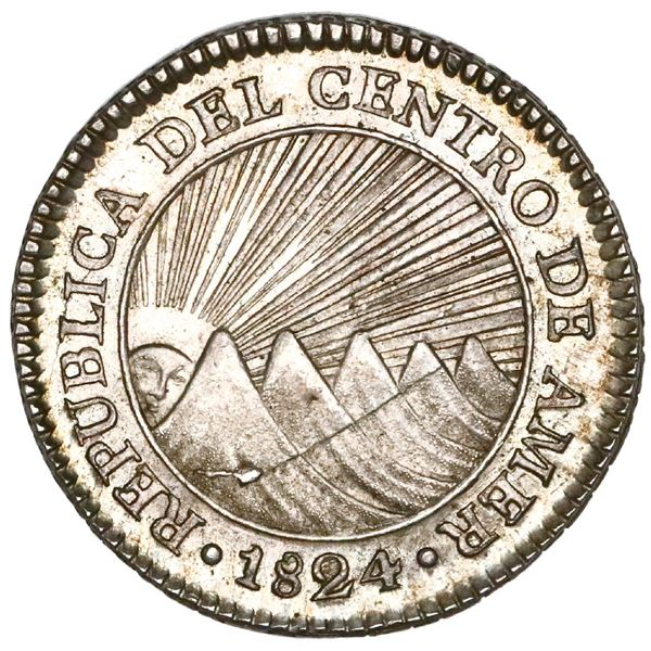 Guatemala (Central American Republic), 1 real, 1824M, NGC MS 64.