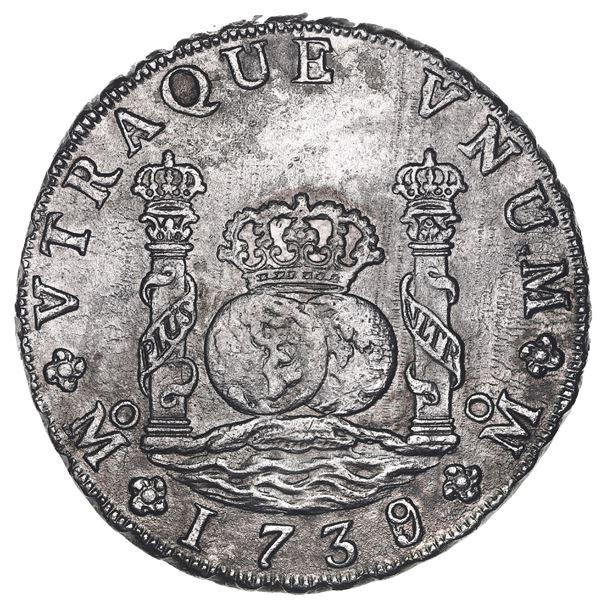 Mexico City, Mexico, pillar 8 reales, Philip V, 1739/6MF, very rare, ex-Reijgersdaal (1747).