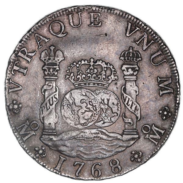 Mexico City, Mexico, pillar 8 reales, Charles III, 1768MF.