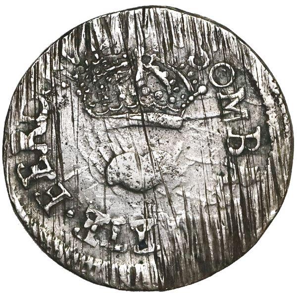 Sombrerete de Vargas, Mexico, 1 real, Ferdinand VII, 1811, denomination 1-R, rare, NGC AU 55, finest