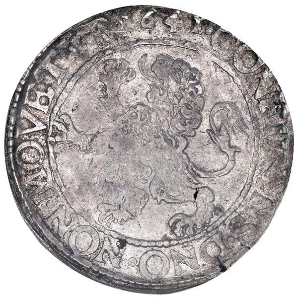 "Utrecht, United Netherlands, ""lion"" daalder, 1641, PCGS AU50 (special label), finest known in PCGS c"