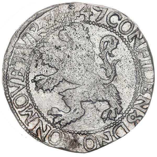 """Kampen, United Netherlands, """"lion"""" daalder, 1647, PCGS AU53 (special label)."""