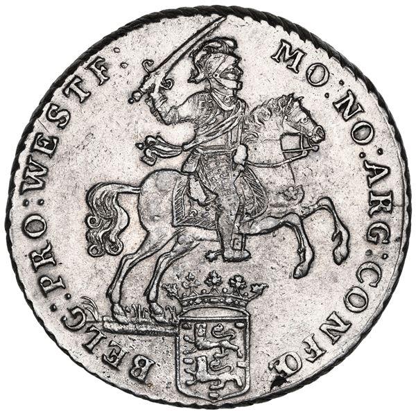 """Westfriesland, United Netherlands, """"rider"""" ducatoon, 1792."""