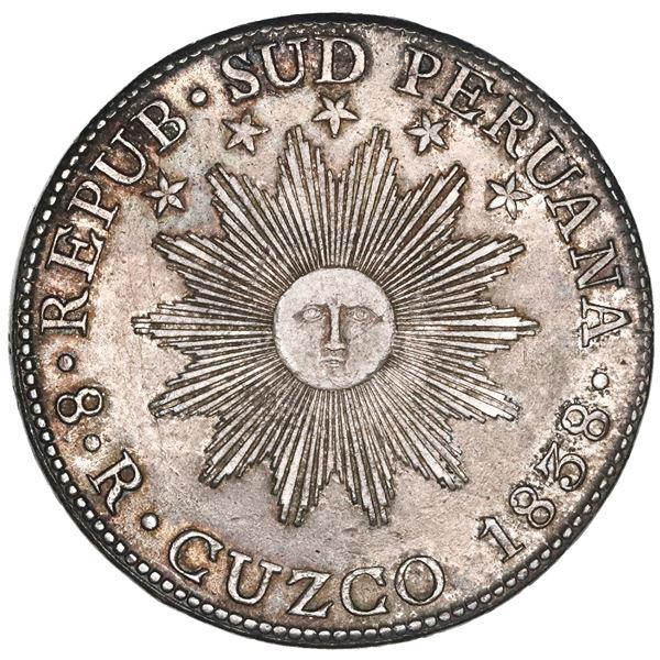 Cuzco, South Peru, 1838BA, NGC AU 58.