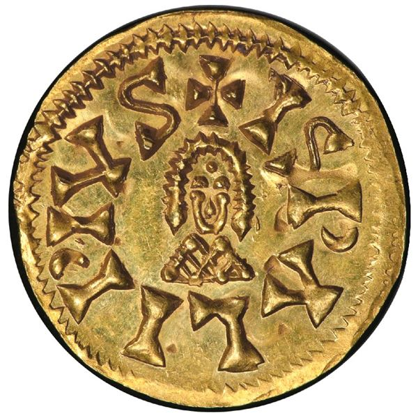 Seville, Spain (Visigoths), gold tremissis, Sisebut (612-621 AD), PCGS MS64, ex-Jones.