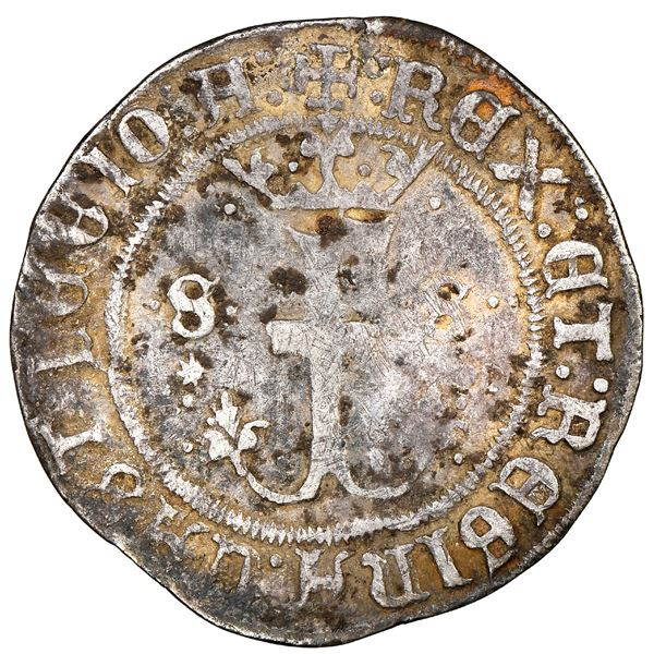 Seville, Spain (special issue struck for New World use), 1/2 real, Ferdinand-Isabel, mintmark S abov