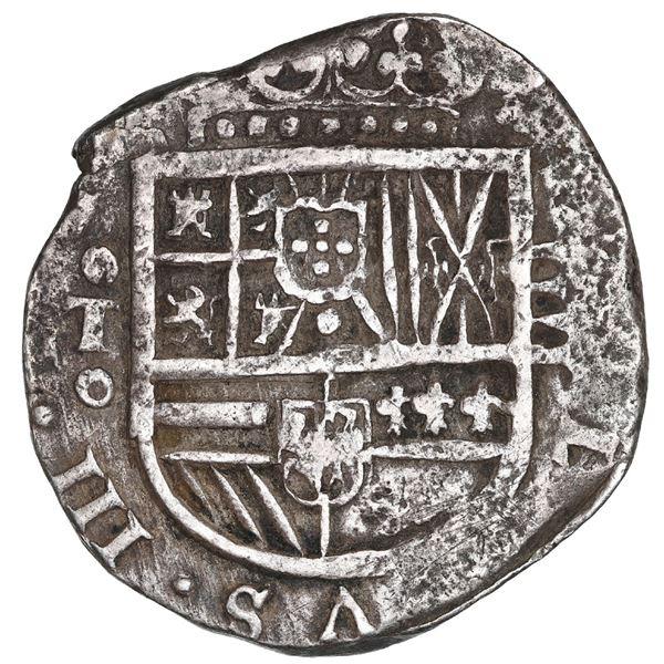 Toledo, Spain, cob 4 reales, 1614, no assayer.