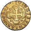 Image 1 : Seville, Spain, gold milled 4 escudos, Philip V, 1701M, mintmark-assayer and denomination on obverse