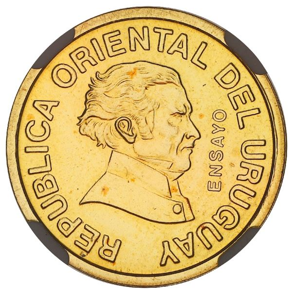 Uruguay, gold essai 50 centesimos, 1994, NGC MS 65, finest known in NGC census.