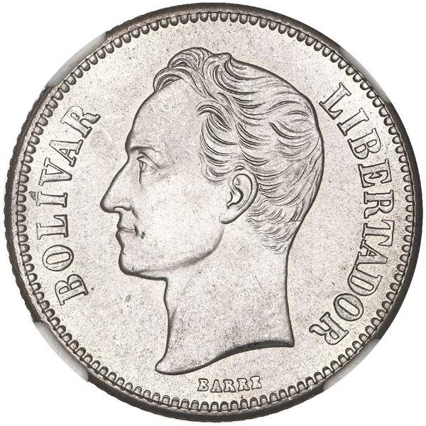 Venezuela (struck at the Philadelphia mint), 2 bolivares, 1929, NGC MS 64.