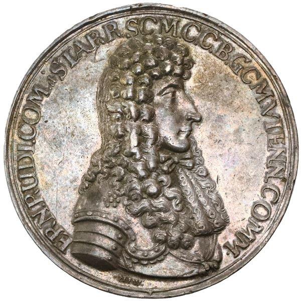 Austria (Holy Roman Empire), silver medal, 1683 date, Count Ernst Ruediger von Starhemberg, Siege of