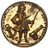 Great Britain, gilt small-sized copper-zinc Admiral Vernon medal, 1739, Porto Bello, ex-Adams.