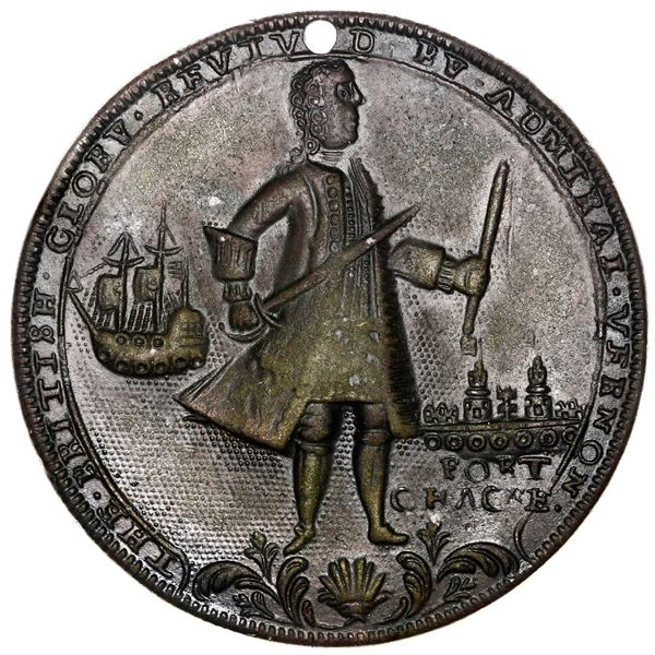 Great Britain, copper-zinc Admiral Vernon medal, 1739, Porto Bello, Fort Chagres, ex-Adams (Plate).