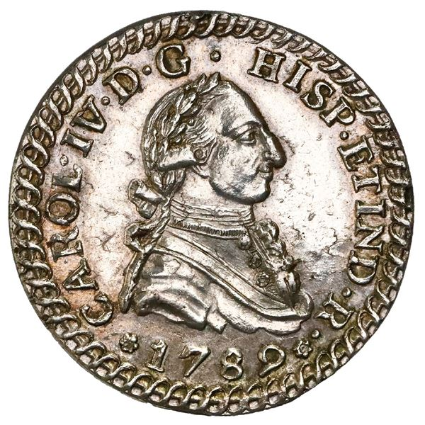 Jerez de la Frontera, Spain, 2R-sized proclamation medal, Charles IV, 1789, NGC MS 62, finest known