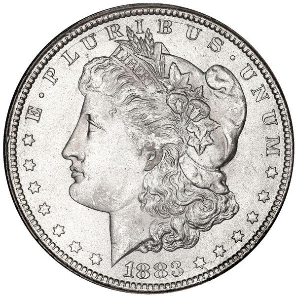 USA (Carson City Mint), Morgan dollar, 1883-CC, in GSA holder, NGC MS 63.