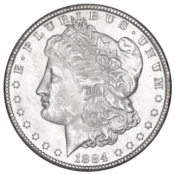 USA (Carson City Mint), Morgan dollar, 1884-CC, in GSA holder, NGC MS 62.