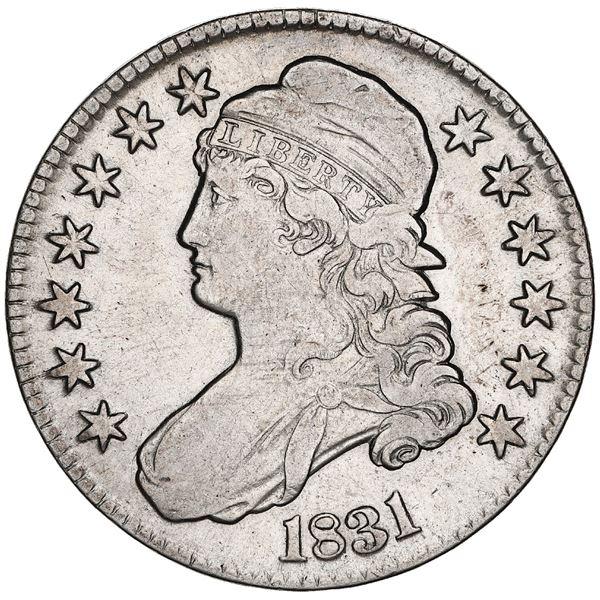 USA (Philadelphia Mint), Capped Bust half dollar, 1831, O-108 variety, ex-Tuscaloosa Hoard (Civil Wa